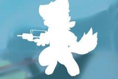 浅蓝喜灰Logo化